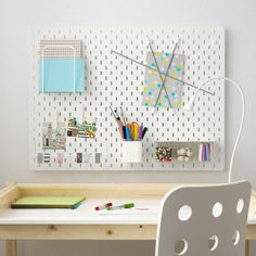 Ikea Skadis: This Product Will Instantly Organize Any Room Ceiling Storage, Wall Storage, Paper Storage, Craft Storage, Ikea Skadis, Ikea Pegboard, White Pegboard, Pegboard Craft Room, Playroom Art