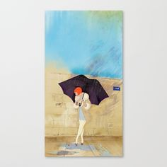 RAINY DAY FLOWER Stretched Canvas by Stephan Parylak - $85.00 - Another inspiring piece by Stephan Parylak. Beautiful style.