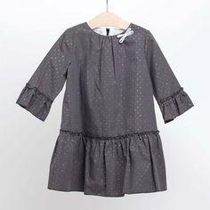 Vestido gris marengo. Tallas 2 a 10 años