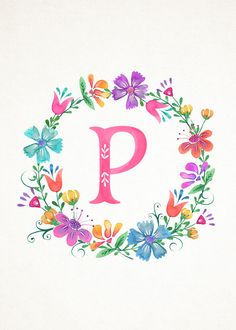 M Floral Wreath Monograms (The Cottage Market) Monogram Wallpaper, Alphabet Wallpaper, Monogram Wreath, Monogram Letters, Floral Letters, Alphabet And Numbers, Letter Art, Flower Frame, Lettering Design