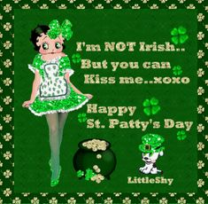Betty Boop Pictures Archive: Animated gifs of Betty Boop for Saint Patrick's Day St Patricks Day Pictures, Happy St Patricks Day, Saint Patrick, Betty Boop Cartoon, Betty Boop Pictures, Gifs, St Paddys Day, St Pattys, Cards