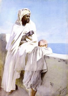 The Athenaeum - Man and Boy in Algiers (Anders Zorn - )