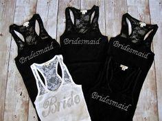 Demoiselle d'honneur 5 Tank Top chemise. par TheLittleBridalShop