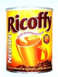 ricoffy - good old everyday coffee :-) Coffee Label, Coffee Tin, Coffee Beans, Sugar Ants, African Love, Biltong, Tea Brands, South African Recipes, Nescafe