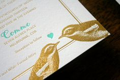 i like the more complicated drawn animals in one color Letterpress Wedding Invitations, Wedding Stationery, Mint Wedding Themes, Juice Logo, Nature Inspired Wedding, Mint Gold, Las Vegas Weddings, Wedding Pinterest, One Color