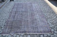 Oushak Rug BLACK Color, Turkish Handmade Overdyed Carpet, Vintage Overdyed Rug, Size is (270 cm x 175 cm)  8,8 feet x 5,7 feet model: 210 by OushakRugs on Etsy