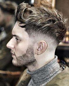 Idee tagli di capelli uomo autunno inverno 2016-2017 - Rasatura laterale e ciuffo per taglio uomo super moderno