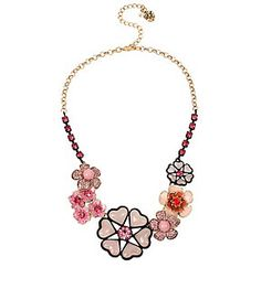 MEMOIRS OF BETSEY FLOWER FRONTAL NECKLACE: Betsey Johnson