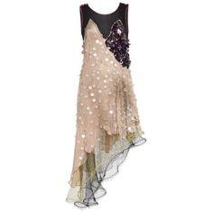 Rodarte Peach Lame, Beaded Tulle, And Layered Net Sleeveless Dress (£6,155) ❤ liked on Polyvore featuring dresses, short dresses, rodarte, vestidos, multi, sequin mini dress, peach cocktail dress, sequin dress and sequin cocktail dresses