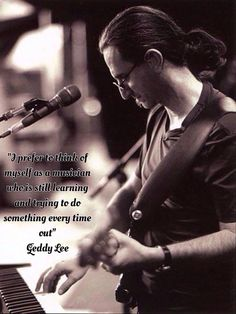 Geddy's wise words