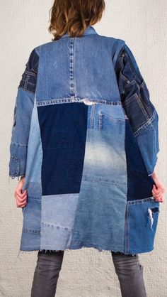 SilkDenim etsy.com/listing/203289393/silkdenims-oh-yoko-coat-made-from-100