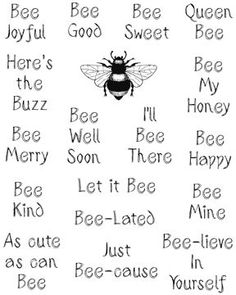 Design Junkies: Challenge Bee Well Soon Buzz Bee, I Love Bees, Bee Party, Card Sentiments, Thing 1, Art Graphique, Bees Knees, Bee Keeping, Making Ideas