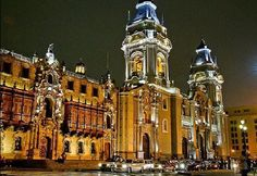 The Archbishop Palace and the Cathedral, Lima, PERU