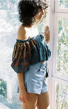 2173d7f339b0ee Denim Chloe Off The Shoulder Crop Top Bardot Dress