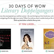 30 days of Literary Doppelgangers - great resource when you are looking for your next book!