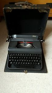 Vintage orbis typewriter dates 1948 fully working with original case | eBay