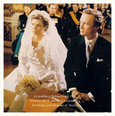 Archduchess Marie Astrid of Austria nee Princess of Luxembourg wedding bouquet