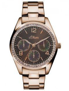 s.Oliver Time Damenuhr aus der Herbst/ Winter Kollektion 2016/2017 #s.Oliver #watch #uhr #braun #roségold #Edelstahl