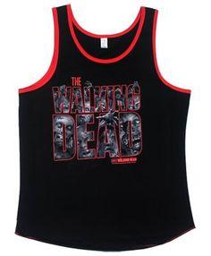 The Walking Dead Zombies Walkers Logo Adult Tank Top Shirt M @ niftywarehouse.com
