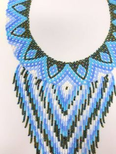 Collares artesanales mostacilla arte color hecho a mano | Etsy Seed Bead Necklace, Seed Beads, Beaded Necklace, Necklaces, Native American Beadwork, Hand Weaving, Handmade Jewelry, Jewels, The Originals