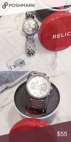 Silver Relic watch Brand new. Needs a battery. Comes in box Accessories Watches