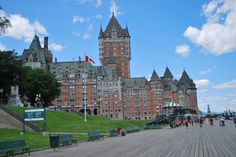 view from the promenade of of chateau frontenac