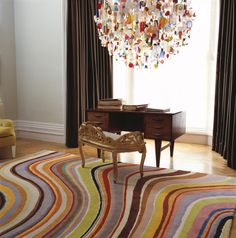 Swirl rug, designed by Paul Smith for The Rug Company