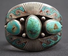 (Navajo) turquoise & silver -- to absolutely die for