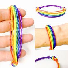 Pride Bracelet - Gay Pride Bracelet - Rainbow Bracelet - Rainbow Pride Bracelet - Pride String Bracelet - Gay Pride String Bracelet - Pride by OurUniverseShop on Etsy