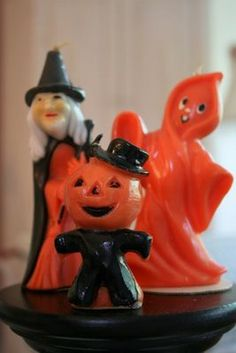 Vintage Halloween Gurley candles -- We so had these when I was little!!!!