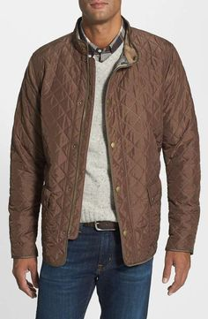 'Hatton' Regular Fit Quilt Jacket $299 #constructionzone #alexanderliang