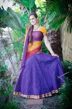 patterned Dancing Collection – Purple/Yellow
