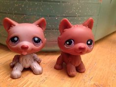 Littlest Pet Shop Dogs,  2 HUSKYS,  #38, #39,  2006, 2007  HASBRO #Hasbro