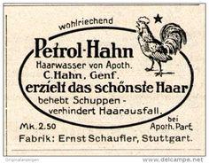 Original-Werbung/Inserat/ Anzeige 1915 - PETROL-HAHN HAARWASSER GENF /  SCHAUFLER STUTTGART- ca 45 x 35 mm
