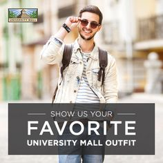 BACK-TO-SCHOOL giveaway! Contest directions below: 1. Send us a pic of your favorite Univeristy Mall outfit 2. Tag the store it is found at 3. #shopuniversitymall