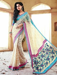 To enhance your looks, the saree is designed with the latest trends And It Can Be Yours At Just Rs. 2,828. Shop Now http://goo.gl/gOJpMw