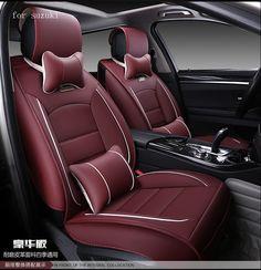For suzuki swift jimny grand vitara beige red black waterproof soft pu leather car seat covers easy clean front &rear full seat
