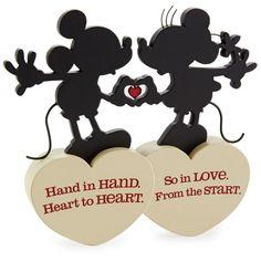 Disney Hallmark Mickey and Minnie So In Love Silhouette Figurine New Mickey And Minnie Love, Mickey Minnie Mouse, Disney Mickey, Wedding Vows Examples, Wedding Ideas, Wedding Stuff, Disney Love Quotes, Love Silhouette, Cute Couple Gifts