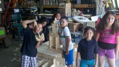Students learn to use a CNC Digital Fabrication machine to create their own building blocks.