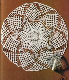 Magic Crochet Nº 12 - Edivana - Picasa Web Albums Crochet Chart, Thread Crochet, Crochet Scarves, Crochet Motif, Crochet Designs, Crochet Doilies, Crochet Flowers, Crochet Hooks, Doily Patterns
