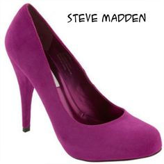 "Steve Madden Trinitie Plum Suede High Heels Steve Madden Trinitie Plum Suede High Heels, size 9M, leather upper. Worn a few times, still in great shape! 5"" heels.Final Price, unless bundled!! Steve Madden Shoes Heels"