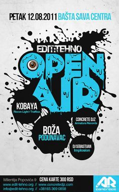 Posters and flyers by Marija Matovic, via Behance
