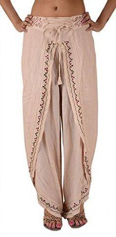 Full Circle loose harem pantalon Paperbag avec ceinture beige taupe SAGE 32 14 nouvelles