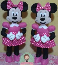 Molde Minie de feltro passo a passo  - Ver e Fazer Felt Crafts, Diy And Crafts, Crafts For Kids, Baby Disney, Diy Projects To Try, Kids Toys, Needlework, Disney Characters, Pattern