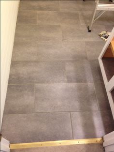 I Love My New Bathroom Floor. Itu0027s Peel And Stick Groutable Vinyl Tile. My