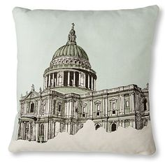 $68.87 MR WINGATE St Paul's Cathedral cushion cover with pad