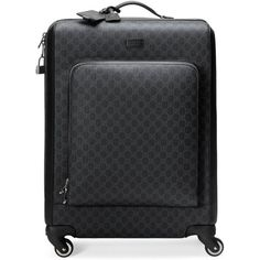 Gucci Gg Supreme Suitcase (54,200 MXN) ❤ liked on Polyvore featuring men's fashion, men's bags, bags, men, trolleys, mens suitcase, mens leather suitcase, gucci mens bag, mens leather bags and mens bag
