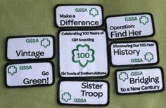 Girl Scouts Southern Alabama 100th Anniversary patch set