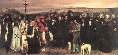 """Un entierro en Ornans"", óleo sobre lienzo de Gustave Courbet (1819-1877, France)"