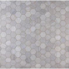 Home Depot- $14.98 sq ft MS International Honeycomb Hexagon 12 in. x 12 in. x 10 mm Natural Marble Mesh-Mounted Mosaic Floor and Wall Tile-HONCOM-2HEX - The Home Depot